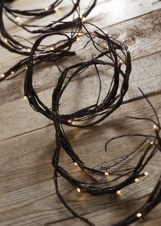 LED Branch Garland | 60 Warm White Bulbs battery operated