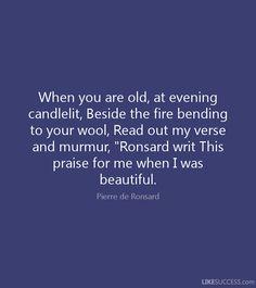 Pierre de Ronsard quote