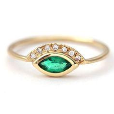 Popular Emerald Engagement Ring Gold Emerald Ring Emerald u by artemer