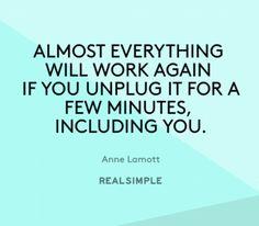 Inspiring words from Anne Lamott.