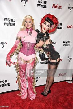 Miss Fame (L) and Violet Chachki attend 'RuPaul's Drag Race' Season 7 Finale And Coronation on June 1, 2015 in New York City.
