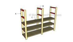 This step by step woodworking project is about basement shelving plans. This article features detailed instructions for building sturdy wooden shelving for your basement. Furniture Plans, Diy Furniture, Basement Shelving, Basement Ideas, Workshop Plans, Wood Putty, Wooden Playhouse, Workshop Organization, Diy Shed