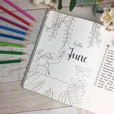 Before the pencils meet the paper! I just started with the cover page of June and I'm so proud of how it turned out! Can't wait to add the colors! #Regram via @planningroutine