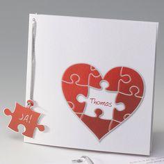 Puzzel hart Trouwkaart :: Belarto