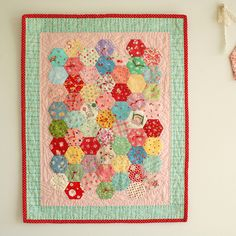 hexie doll quilt