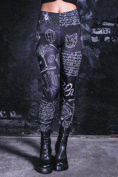 6783d132473c8 Incantation Leggings black leggings Gothic leggings witch #leggings  #streetwear #styleinspiration #etsy #