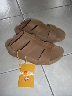 Fitflop ARENA Nubuck Leather Gladiator Sandals in TAN 7 M US/38 EU - NWT #FitFlop #Gladiator