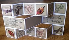 Beccy's Place: Tutorial: Tri-Shutter Card Trifold cards look their best when standing open for display. They can be made in a variety of different sizes with slight variations to the measurements of… Tri Fold Cards, Fancy Fold Cards, Folded Cards, Card Making Tutorials, Card Making Techniques, Trifold Shutter Cards, Step Cards, Shaped Cards, Handmade Books