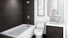 Amusing Bathtub Ideas For A Small Bathroom Interior Design regarding Bathroom Remodel Ideas Simple - Best Home Decor Ideas Small Bathroom Interior, Small Bathroom Layout, Modern Small Bathrooms, Bathroom Photos, Narrow Bathroom, Beautiful Bathrooms, Latest Bathroom Designs, Simple Bathroom Designs, Modern Bathroom Design