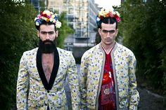 Frida Kahlo Reincarnated as Bearded Hunky Models: Photos by Luis Carlos Aguayo Accidental Bear Fashion Painting, Fashion Art, Fashion Models, Mens Fashion, Catwalk Fashion, Diego Rivera, Mode Masculine, Freida Kahlo Costume, Amazing Photography