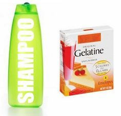 Gelatin is a great way to instantly thicken hair. It coats each strand and gives hair volume after the first use. Pour one package of unflavored gelatin into your normal shampoo. Shake well and use as often as you wash hair. The gelatin shampoo will add texture to thin hair.