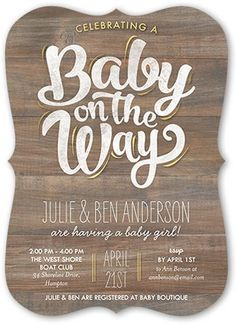Baby On The Way 5x7 Greeting Card | Baby Shower Invitations