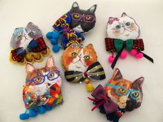 To know more about ハセガワアヤ 猫ブローチ, visit Sumally, a social network that gathers together all the wanted things in the world! Cat Crafts, Diy And Crafts, Art Textile, Doll Painting, Cat Pin, Felt Fabric, Fabric Jewelry, Diy Accessories, Doll Face