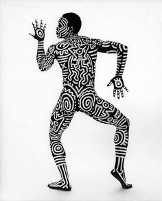 Bill T. Jones painted by Keith Haring  unfortunately he was not painted like this when I worked with him at the Ballet..