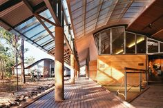 2014 Gold Medal: Environmental fit | ArchitectureAU. Bowali Visitors Information Centre in association with Glenn Murcutt, Kakadu National Park, NT, 1992–94. Image:  John Gollings