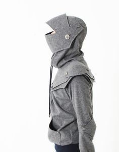 Arthur Armored Knight  Medieval Armor Pullover Hoodie(100% Handmade Wool) Made To Order