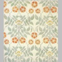 Wallpaper design by C F A Voysey, produced by Essex & Co in 1906..jpg