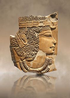 Ancient Egyptian tomb relief sculpture of King Amenhotep III from the grave of Chaemhat, Thebes West. 18th Dynasty 1360 BC. Neues Museum Berlin AM 14503. | Photos Gallery