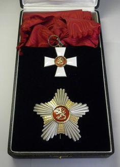 FINLAND - Silver Order of the Lion Grand Cross in Original Case