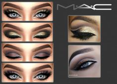 Mac style eyeshadows for The Sims 4