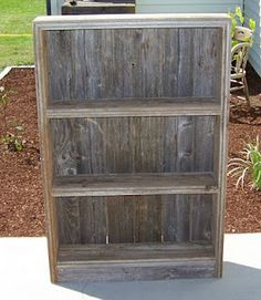 the main frame was built from some neat boards that i took off of someones burn pile and the back is the same b diy rustic furniture barn wood furniture ideas