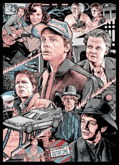 """Back to The Future"" trilogy Marty portraits by Niclas M. Movie Poster Art, Film Posters, Back To The Furture, Michael J Fox, Movies And Series, Bttf, Marty Mcfly, Pop Culture Art, Alternative Movie Posters"