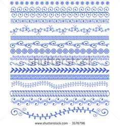Vector Henna Patterns Stock Vector (Royalty Free) 3176796 - henna patterns – would be good for doodling - Arte Mehndi, Henna Mehndi, Henna Art, Indian Patterns, Henna Patterns, Embroidery Patterns, Textile Patterns, Henna Tattoo Designs, Mehandi Designs