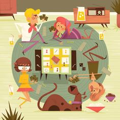 Scooby Doo/Clue illustration by Andrew Kolb