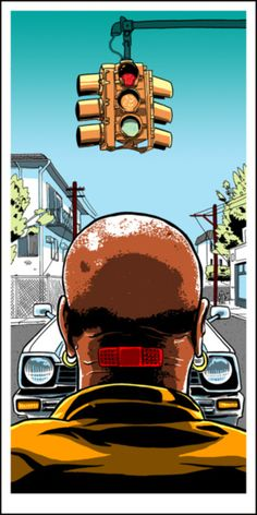 "Marcellus Wallace Becomes Acquainted With a 1980 Honda Civic Hatchback Pulp Fiction print for the 2011 ""Quentin V. Coen"" art show by Spoke Art hand made screen print measures 12 inches x 24 inches signed & numbered edition of 175 artist: Tim Doyle Civic Hatchback, Best Movie Posters, Movie Poster Art, Movies And Series, Art Series, Art Pulp Fiction, Pulp Fiction Tattoo, Pulp Art, Mc Bess"