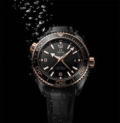 Introducing the Omega Seamaster Planet Ocean Deep Black Entirely in Ceramic Omega Seamaster Planet Ocean, Omega Seamaster Diver 300m, Omega Seamaster Automatic, Omega Speedmaster, Cool Watches, Rolex Watches, Ocean Deep, Seamaster Aqua Terra, Swiss Army Watches