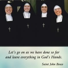 Let's go on as we have done so far and leave everything in God's Hands.  #DaughtersofMaryPress #DaughtersofMary
