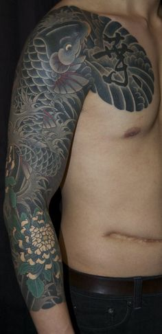Awesome Japanese Koi Fish Sleeve Tattoo  #asiantattoo #japanesetattoo #koifish #sleevetattoo #inkedman