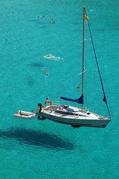 Sail Away - Beautiful - I want to join them - Santa Galdana, Balearic Islands, ES Catamaran, Ibiza, Sailboat Living, Volvo Ocean Race, Sailing Trips, Yacht Boat, Balearic Islands, Sail Away, Set Sail