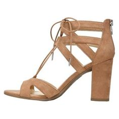 Women's Sam & Libby Elyse Ghillie Low Heel Pump Sandals - Soft Taupe (Brown) 10