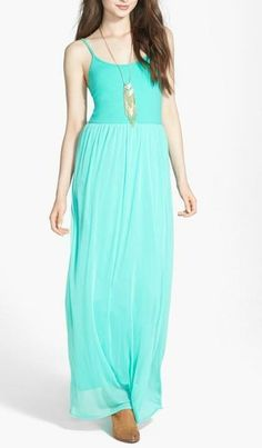Loving this mint maxi for spring.