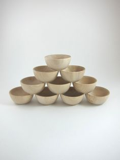 10+Small+Wood+Bowls++Unfinished+Wooden+Ring+Cups++by+snugglymonkey,+$16.00