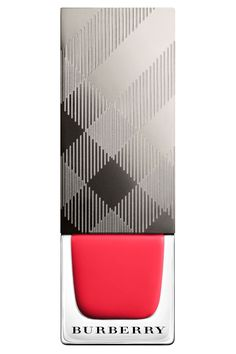 Burberry Nail Polish in Bright Coral Red, $22, burberry.com.   - TownandCountryMag.com