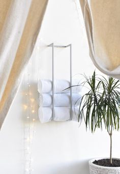 Modern towel storage for an aesthetic look, or practical usage for apartment living