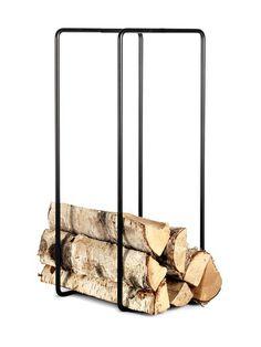 Ilmava, skandinaavista designiä henkivä säilytysteline soveltuu loistavasti monenlaisten kodin esineiden tyylikkääseen säilytykseen: järjestä takkapuut, lehdet ...