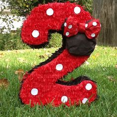 Minnie Mouse pinata number pinata 2ft number by Mylittlesofy
