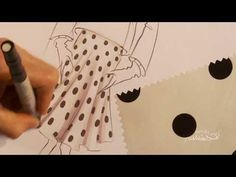 ▶ Fashion Art: How to hand render a dot pattern onto a flared skirt - YouTube