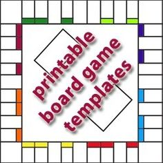 Free Printable Board Game Templates.  Wouldn't a board with places or names from your family. Wish there was a Clue one.