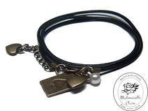 Armband echt Leder - vintage Fortuna Claire, Etsy, Bracelets, Vintage, Jewelry, Fashion, Handmade, Wristlets, Schmuck