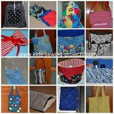 Sewing bags kids camp-http://www.kids-sewing-projects.com/kids-sewing-camp.html