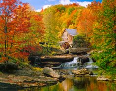 Babcock State Park, WV, Glade Creek: a place to visit in the fall.