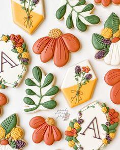 Fall Decorated Cookies, Fall Cookies, Cut Out Cookies, Easter Cookies, Birthday Cookies, No Bake Sugar Cookies, Royal Icing Cookies, Thanksgiving Cookies, Christmas Cookies