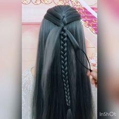 Easy Hairstyles For Long Hair, Girl Hairstyles, Braided Hairstyles, Hair Express, 90s Grunge Hair, Prom Hair Tutorial, Hair Color Dark, Cut My Hair, Hair Hacks