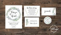 Svatební oznámení - TYP 191 / Zboží prodejce Noviny Michal | Fler.cz Place Cards, Place Card Holders, Weddings, Frame, Picture Frame, Wedding, Frames, Marriage