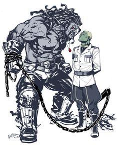 Brainiac and Lobo