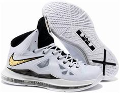 Nike Lebron 10 White Black Gold
